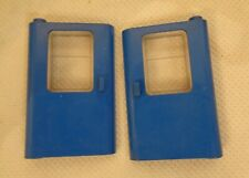 Lego Spare parts -Train Door Left & Right Blue with Clear Glass