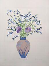 "SHEILA OLINER 1930-2020 St Ives ""Zennor Bluebells"" limited ed ETCHING 139/175"