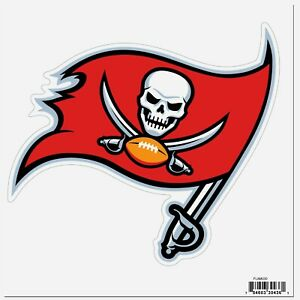 Tampa Bay Buccaneers Licensed Outdoor Rated Logo Magnet (NFL Football)
