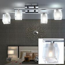 Luxus Decken Lampe Wohn Ess Zimmer Leuchte Glas Würfel Strahler satiniert klar