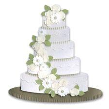 WEDDING CAKE Flowers Beads Pearls Jolee's Stickers Scrapbook