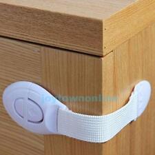 Baby Kids Multi-Function Cloth Lock Belt Drawer Cabinet Toilet Door Safety White