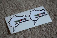 NURBURGRING Skoda VRS BMW Car Motorcycle Race Circuit Bike Decal Sticker 100mm