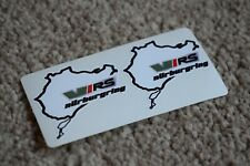 NURBURGRING Skoda VRS BMW Car Motorcycle Race Circuit Bike Decal Sticker 50mm