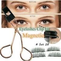 Magnetic Eyelash Curler with Quantum Soft Magnetic False Eyelashes Tool Set New