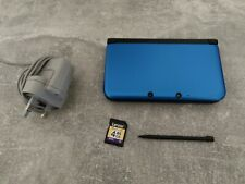 Nintendo 3DS XL Console Blue with official charger, 4 GB SD Card Stylus