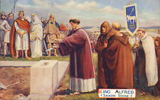 More details for 1900s colour card ( festival of the empire ) king alfred (saxon scene )