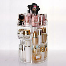 360° Rotating 3 Tier Acrylic Cosmetic Makeup Jewelry Storage Organizer Case ACC