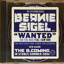 Beanie Sigel Wanted Cam'ron PROMO Single CD Da Neckbones Jay-Z Rocafella Rap HTF