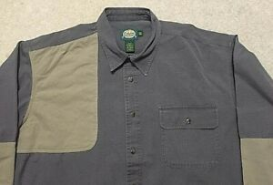 Cabelas Right Hand Hunting Shooting Shirt Olive Green Long Sleeved Mens Size 2XL