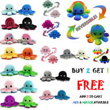 Reversible Flip Octopus Plush Stuffed Toy Soft Animal Home Car Accessories Gifts