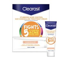 Clearasil Stubborn Acne Control 5 In 1 Concealing Treatment Exp 09/20