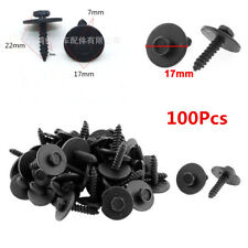 100Pcs Metal Sheet Car Body Screw Fender Bumper Retainer Clips Washer 7mm Hex