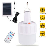 Portable Solar Powered LED Bulb Emergency Camping Tent Lamp Rechargeable Lights