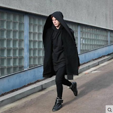 Punk Hip Hop Assassin Sweater Mens Trench Coat Jacket Outwear Cloak Hooded Long