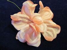 "Vintage Millinery Flower 5"" Organdy Satin Pink Shades for Hat Bride + Hair IE2"