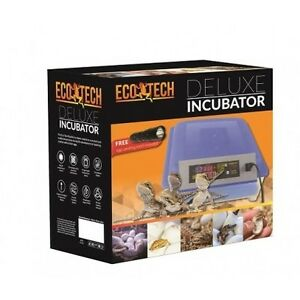 Reptile Egg Incubator Deluxe Eco Tech with Free Candling Torch