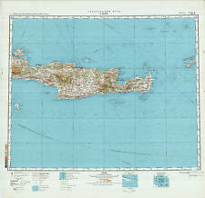 Russian Soviet Military Topographic Maps -CRETE ISLAND (Greece), 1:500K, ed.1981