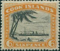 Cook Islands 1933 SG111 6d RMS Monowai wmk p14 MH