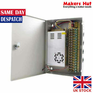 12V Cabinet Power Supply Fused - Switching PSU - 9 to 18 Outputs - 10A to 30A