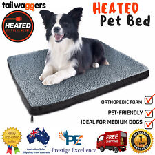 Tail Waggers Heated Pet Bed Electric Pet-friendly Orthopedic Foam - Medium Dogs