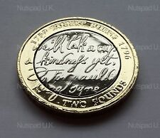 2009 BU £2 coin Robert Burns two pounds Commemorative