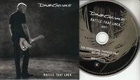 DAVID GILMOUR Rattle That Lock 2015 UK 1-track promo CD card sleeve