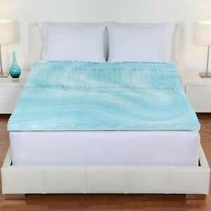 """Orthopedic Memory Foam Mattress Firm Bed Topper Gel Pad 4"""" Cover Full Queen King"""