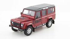1:18 DORLOP Land Rover Defender 110 One Ten Red+Flags Decals+Shovel LHD NEW ED