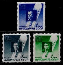 RUSSIA: 1944 STAMP COLLECTION AIRMAIL UNUSED SET SCOTT #C77-9