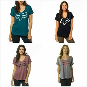 NEW Fox Racing Womens Responded Roll Sleeve T-Shirt Casual Top Tee Shirt XS-XL