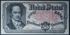 1875 50C Fractional Currency FR#1381 Crawford No Reserve 99C Opening Bid