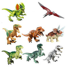 8pcs Jurassic Park World Dinosaur Building Blocks Mini figure Kids Toy fit le-go