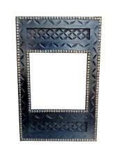 Wooden Photo Frame Hand Carved Picture carved Old Mirror Frame Brass Fitted Art