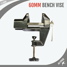 60MM Bench Vice 360° Swivel Mini Vise Clamp Base Workshop Grip Clamp Fixed Tool