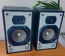 More details for pair of vintage wharfedale 302 speakers 70w 8 ohms 1 tweeter not working