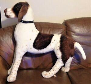 """Melissa & Doug Toy English Pointer Dog Plush Large Standing Dog 23"""" X 30"""" BIG!"""