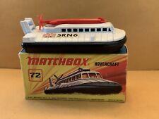 Vintage Matchbox Superfast No. 72 Hovercraft  No Windows With Box