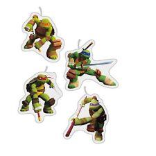 4 Teenage Mutant Ninja Turtles TMNT fête d'anniversaire Assorties Pick Gâteau Bougies