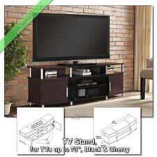 70 Inch TV Stand Media Console Table Carson Stands for Flat Screens Black Cherry