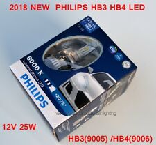 GENUINE Philips HB3 HB4 +200% bulb light LED 6000K Pure White Headlight lamp
