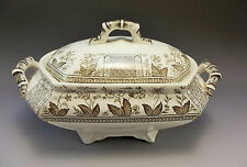 Sampson Hancock Norman SH Aesthetic Brown Gravy Sauce Tureen Porcelain Pottery