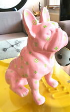 LOUIS VUITTON pink fashion bulldog pop art sculpture-limited edition 3/10.