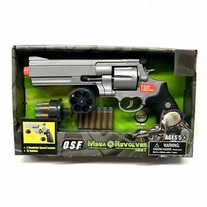 Mega Revolver Toy Gun With Sounds & Bullets  Operation Storm Force