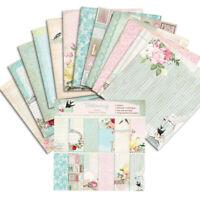 "12stk 6"" Retro Blume Hintergrundpapier Pads DIY Scrapbooking Origami Card Dekor"