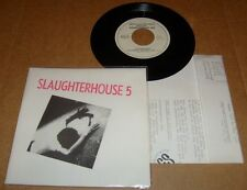 SLAUGHTERHOUSE 5 FIVE You Might As Well Live RARE '81 PRIVATE DUTCH PUNK 45 KBD