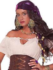 Turban Pleated Hat Black Gypsy Fortune Teller Costume Accessory Vintage-Look