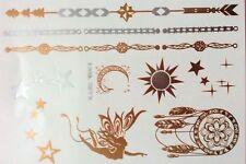 Esclusivo Design Oro Metallico Tatuaggi Temporanei (Tatiana) + FREE design