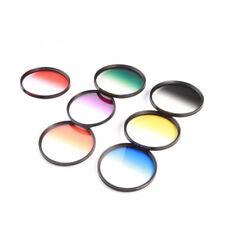 7pcs 58mm Graduated Color Filter Kit for Canon EOS 1100D 600D Lens LF349