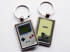 CLASSIC NINTENDO GAMEBOY AND TETRIS Quality Chrome Keyring Picture on Both Sides